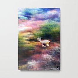 Rainbow Deer Metal Print