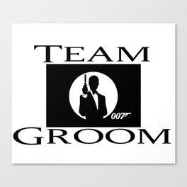 Groom James Bond Canvas Print