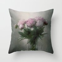 peonies Throw Pillows featuring Peonies by Pauline Fowler ( Polly470 )