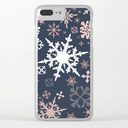 Beautiful Christmas pattern design with snowflakes Clear iPhone Case
