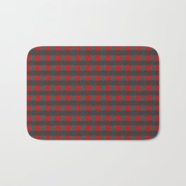 Antiallergenic Hand Knitted Red Grid Winter Wool Pattern -Mix & Match with Simplicty of life Bath Mat