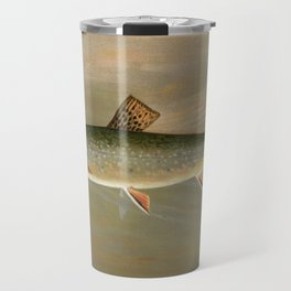 American Brook Trout Vintage Illustration Travel Mug