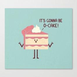 O-Cake Canvas Print