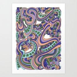 Wandering 45: color variation 1 Art Print