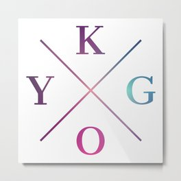 Kygo - Blue Violet Color Metal Print