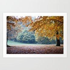 Secret autumn Art Print