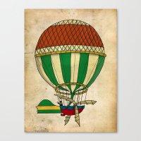 balloon Canvas Prints featuring Balloon by Janko Illustration