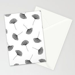 B&W Ginko Leaves Stationery Cards