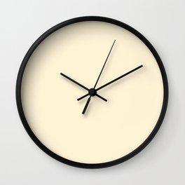 Gardenia Cream in an English Country Garden Wall Clock