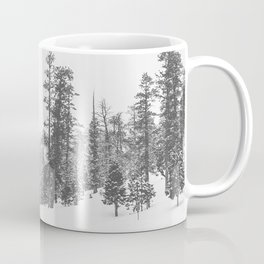 Sledding // Snowday Winter Sled Hill Black and White Landscape Photography Ski Vibes Coffee Mug