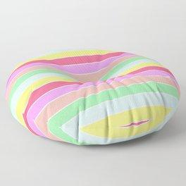 Pastel Rainbow Sorbet Horizontal Deck Chair Stripes Floor Pillow