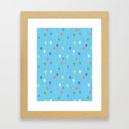 Bright Party Balloons Vector Pattern Framed Art Print