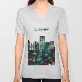Cardiff Skyline Unisex V-Neck