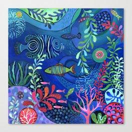Botanical Sea Garden Canvas Print