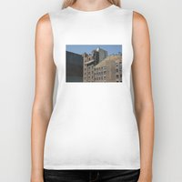 buildings Biker Tanks featuring NYC Buildings by johntrif