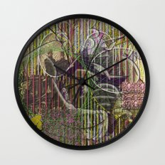 A Strict Code for Mourning Flowers Wall Clock