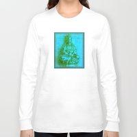 budi satria kwan Long Sleeve T-shirts featuring Jade Kwan Yin by Jan4insight