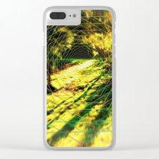 Trippy Backyard Escape Portal Clear iPhone Case