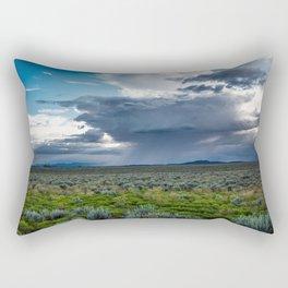Desert Rain - Summer Thunderstorms Near Taos New Mexico Rectangular Pillow