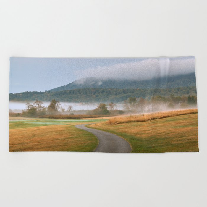 Misty Dawn Golf Course Beach Towel