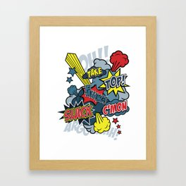 super climb Framed Art Print