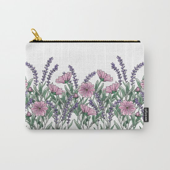 Pink and Lavender Floral Fields by amberlenaengle