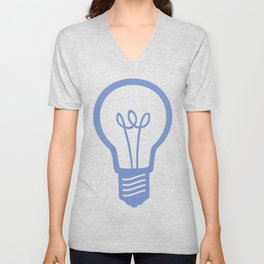 BlueLight Bulb Unisex V-Neck