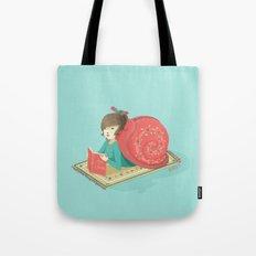 Cozy snail Tote Bag