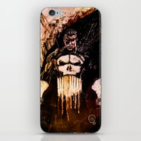 punisher iPhone & iPod Skins featuring Punisher by hbCreative