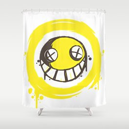 SMILEY--FACE Shower Curtain