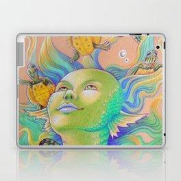 Mermaid With Baby Turtles Drawing Laptop & iPad Skin