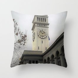 Clock Tower on the Embarcadero Throw Pillow