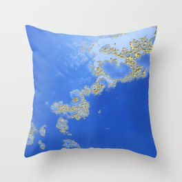 Orencyel : sky gazing before this golden melody Throw Pillow