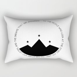 to the people who look at the stars and wish Rectangular Pillow