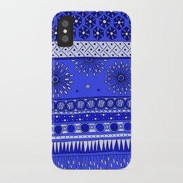Yzor pattern 007-2 blue iPhone Case