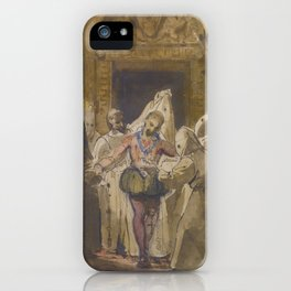 François-Marius Granet CHARLES V AT THE MONASTERY OF YUSTE iPhone Case