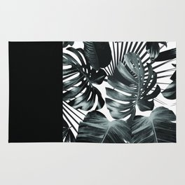 Palm Leaves and Black Rug