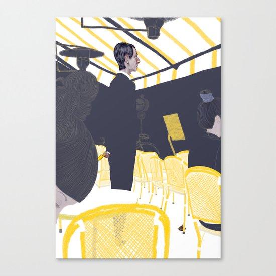 Les Parisiens - Gérant de Café Canvas Print