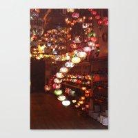 lanterns Canvas Prints featuring Lanterns by Written In Threads