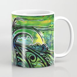 green and blue Coffee Mug