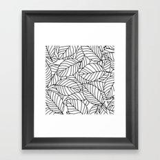 Sweet leafs:  White Framed Art Print