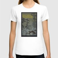 travel poster T-shirts featuring Dagobah Travel Poster by Tawd86