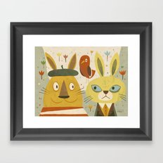 Frederic, Percy and Maxwell Framed Art Print