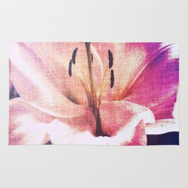 Pink Ripped Fabric Lily  Rug