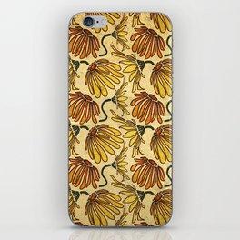 Retro 70's Golden Yellow Daisy Pattern  iPhone Skin