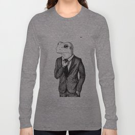 Frog in suit Long Sleeve T-shirt