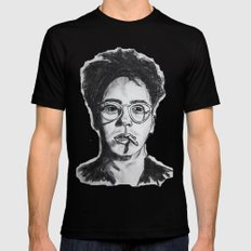 Robert Downey Jr. Mens Fitted Tee Black MEDIUM