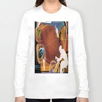 cycling Long Sleeve T-shirts featuring Cycling by Robin Curtiss