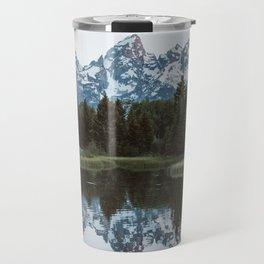 Grand Tetons Relfection at Sunrise Travel Mug