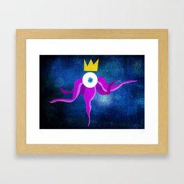 Steampunk king octopus Framed Art Print